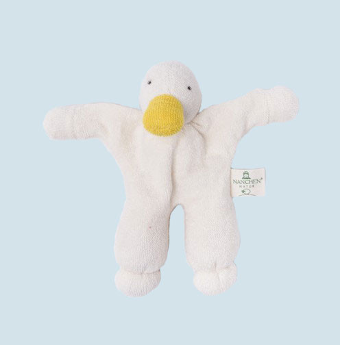 Nanchen - organic soft toy - duck, with a rattle