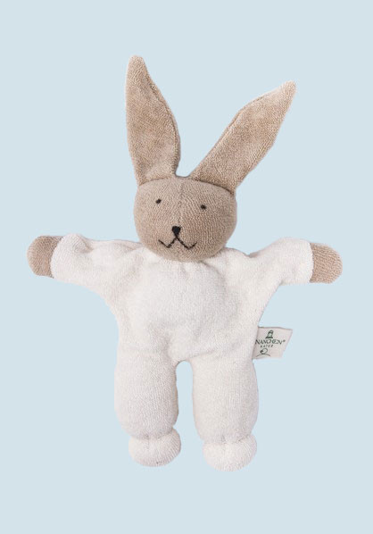 Nanchen - organic soft toy - rabbit, with a rattle