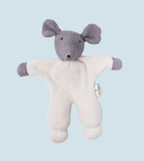 Nanchen - organic soft toy - mouse, with a rattle