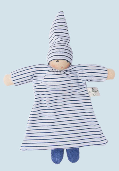 Nanchen - doll with blanket - blue, organic, eco