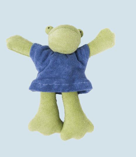 Nanchen Puppe - Frosch - blau, Bio Baumwolle, öko