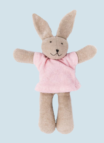 Nanchen organic soft toy - Rabbit / Bunny Hasi - pink, eco