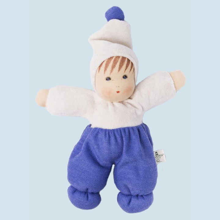 Nanchen eco doll - Mopsi - light blue - organic