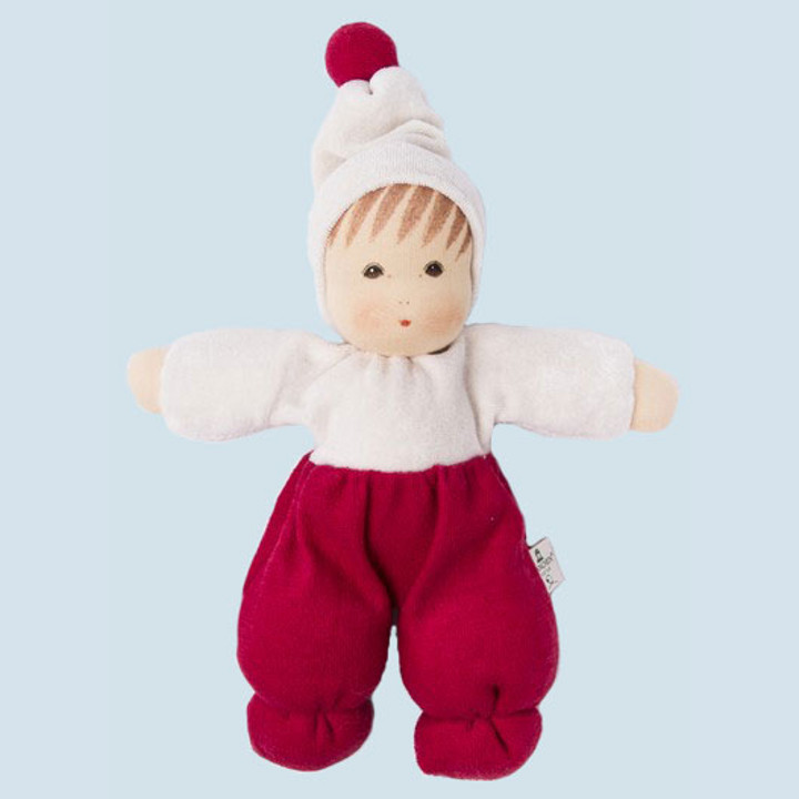 Nanchen eco doll - Mopsi - red - organic cotton