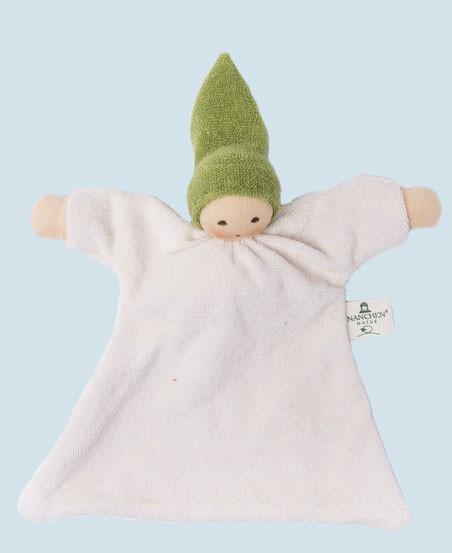 Nanchen baby comforter Nuckel - green - organic cotton, eco