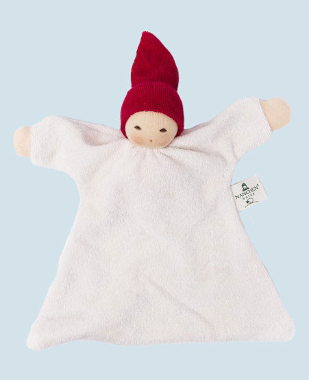 Nanchen organic soft toys - comforter Nuckel - cherry red, eco