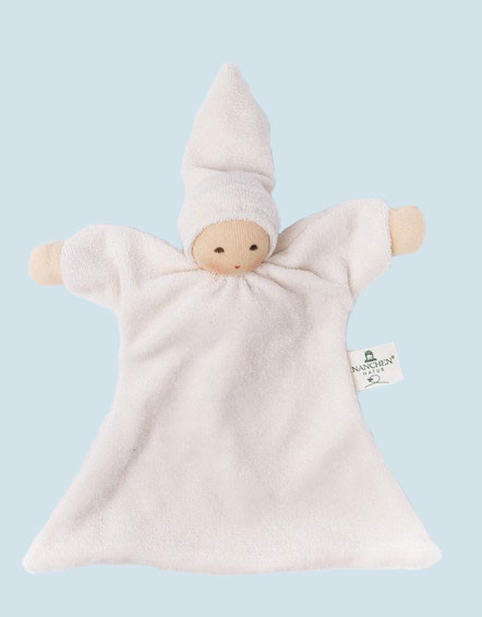 Nanchen baby comforter Nuckel - white - organic cotton, eco
