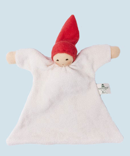 Nanchen baby comforter Nuckel - red - organic cotton, eco