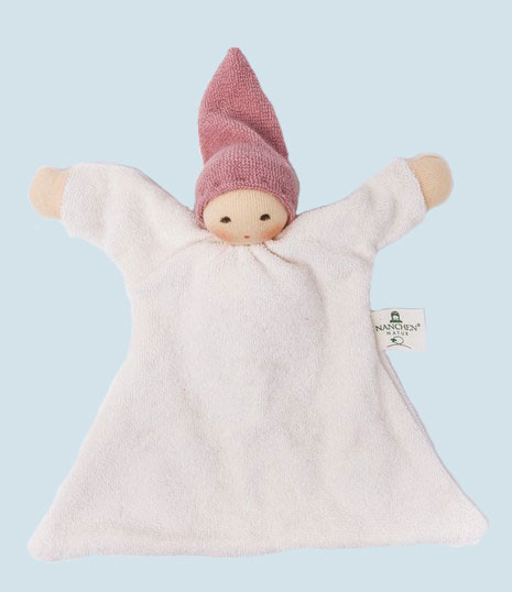 Nanchen organic soft toys - comforter Nuckel - pink, eco