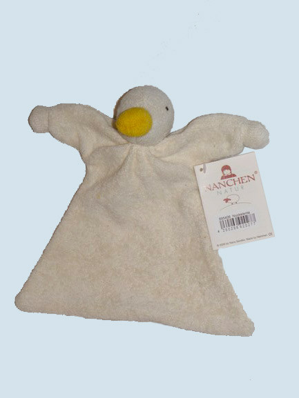 Nanchen organic soft toy - duck - white, cuddle cloth, eco