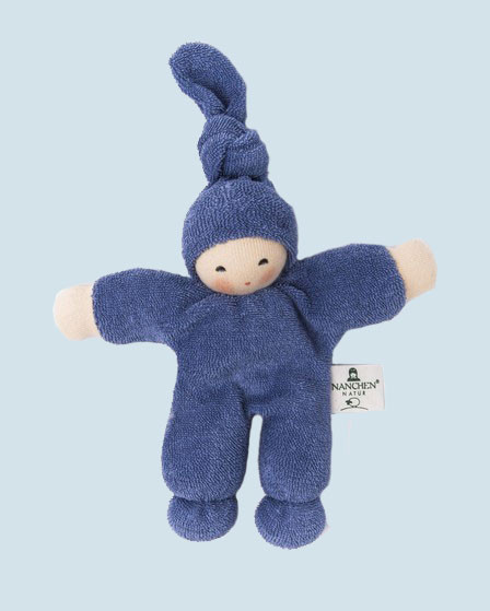 Nanchen eco doll - Pimpel - blue, organic cotton