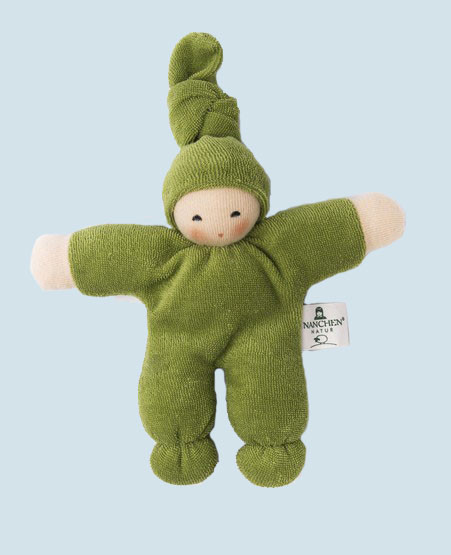 Nanchen eco doll - Pimpel - green, organic cotton