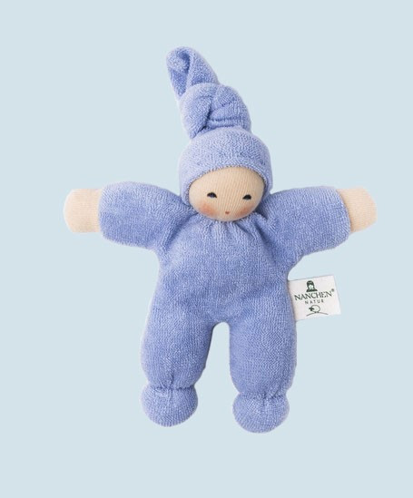 Nanchen eco doll - Pimpel - light blue, organic cotton