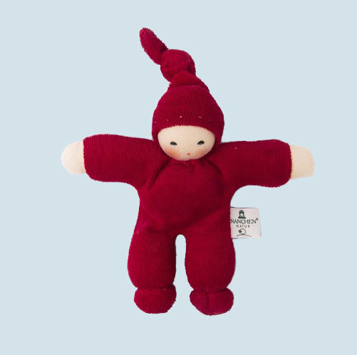 Nanchen eco doll - Pimpel - cherry , organic cotton