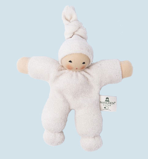 Nanchen eco doll - Pimpel - white, organic cotton