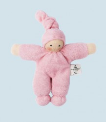 Nanchen eco doll - Pimpel - pink, organic cotton