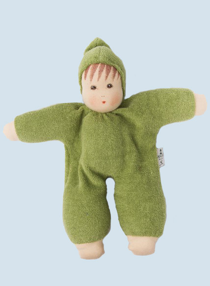 Nanchen eco doll - Schmuse - green, organic cotton