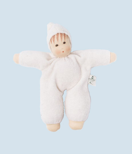 Nanchen eco doll - Schmuse - white, organic cotton
