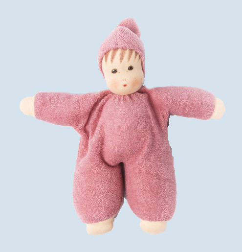 Nanchen eco doll - Schmuse - pink, organic cotton