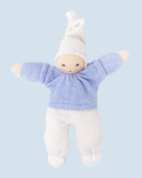 Nanchen Doll - Zausel - blue, organic cotton, eco