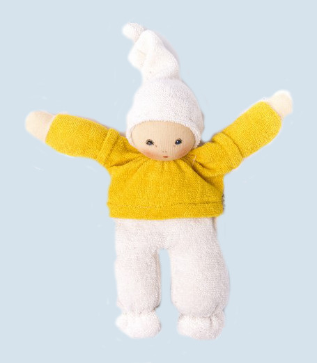 Nanchen Doll - Zausel - yellow, organic cotton, eco