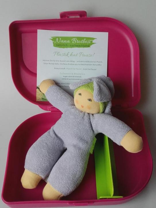 Nanchen doll - Flower-Fairy, purple - organic cotton