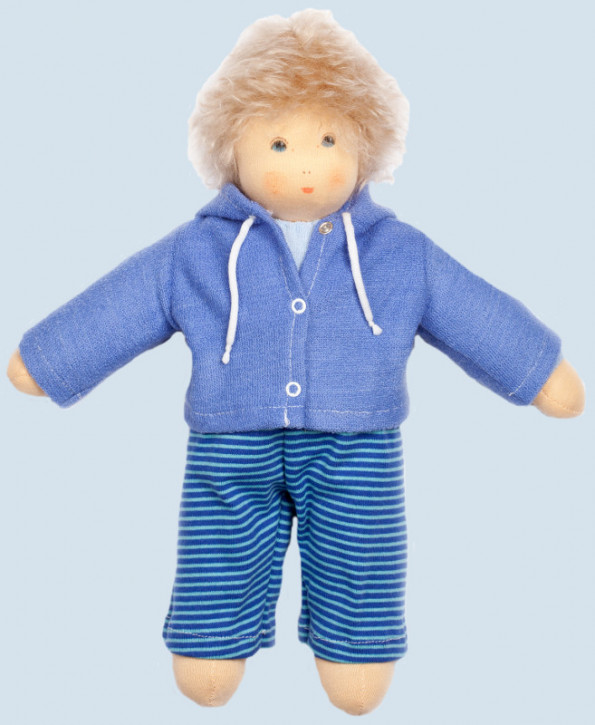 Nanchen Doll - Ole - blue - organic cotton