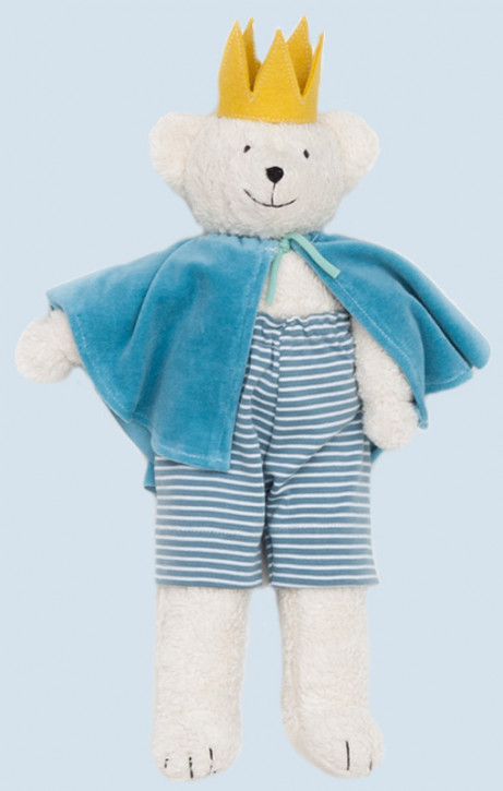 Nanchen organic doll - prince bear - white, organic cotton