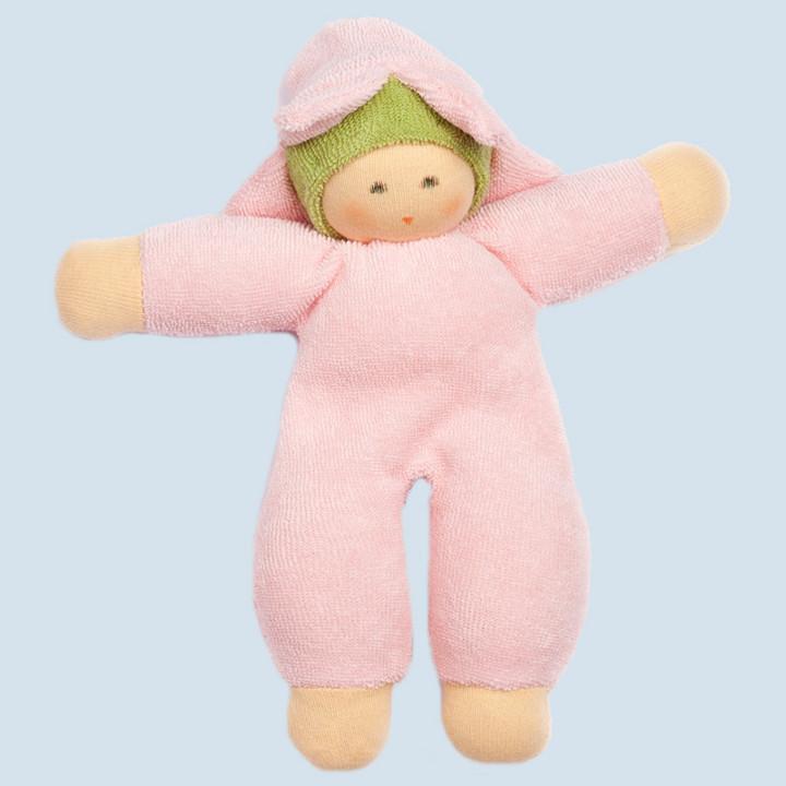 Nanchen Puppe - Blumenfee - rosa, Bio Baumwolle