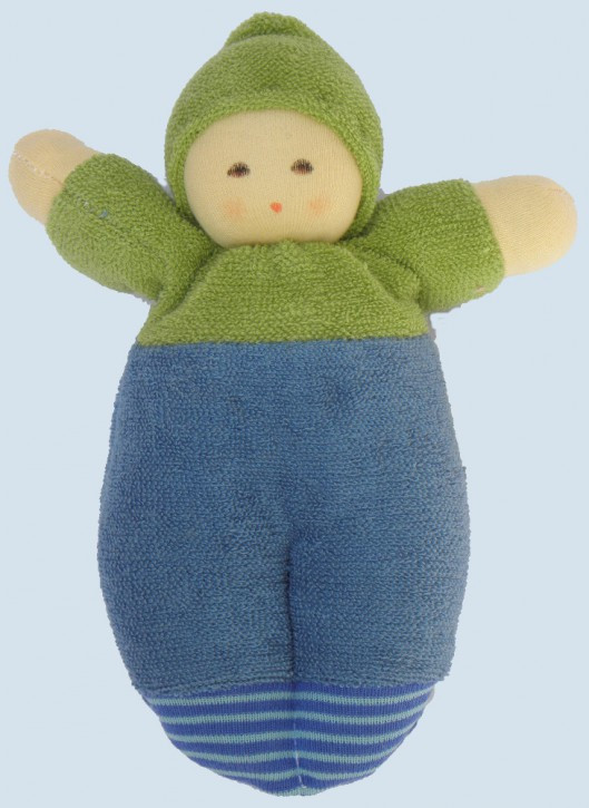 Nanchen organic soft doll - little boy - green, eco