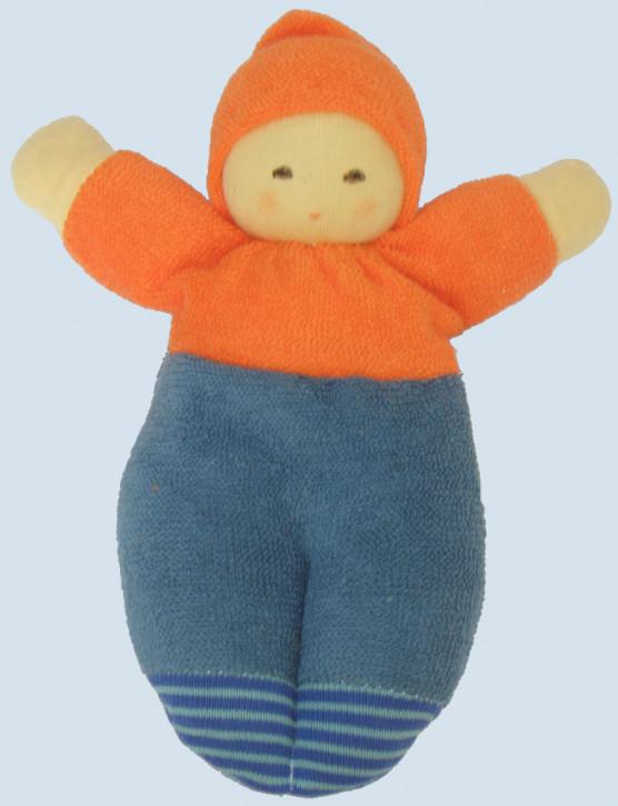 Nanchen Puppe - Schlenkerbub - orange, Bio Baumwolle, öko