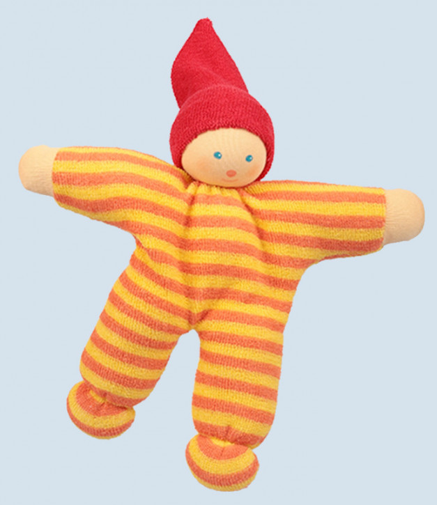 Nanchen - organic soft doll - Nucki - yellow orange