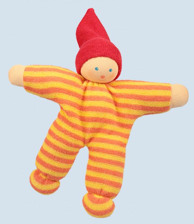 Nanchen Puppe - Nucki Guggo - gelb / orange, Bio Baumwolle, öko