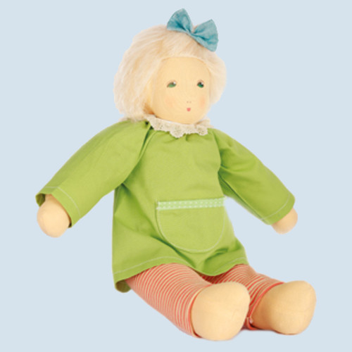 Nanchen doll - Wonne child Nina, blond - organic cotton