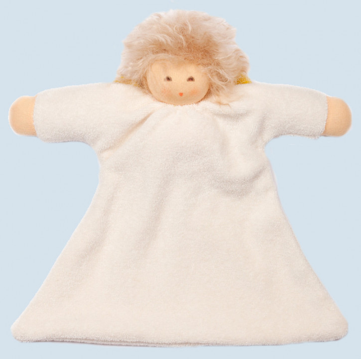 Nanchen - doll - guardian angel - blanket, with hair, organic