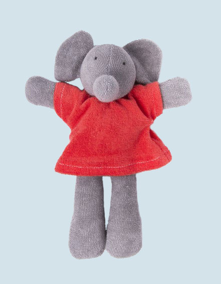 Nanchen organic soft toy - Elephant Ele - red, eco