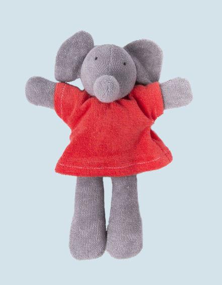 Nanchen Puppe - Elefant Ele - rot, Bio Baumwolle, öko