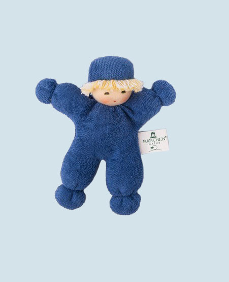 Nanchen eco doll - pea - organic cotton, blue