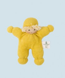 Nanchen eco doll - pea - organic cotton, yellow