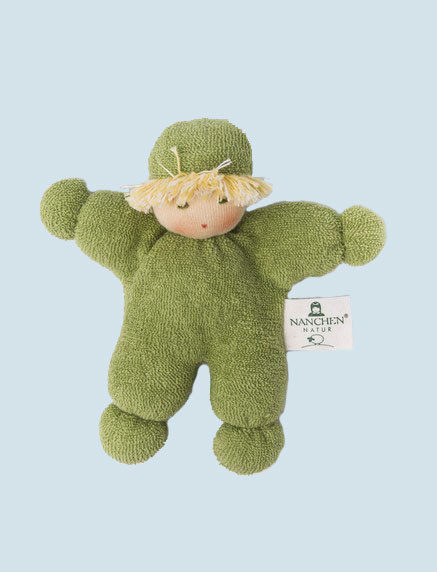 Nanchen eco doll - pea - organic cotton, green