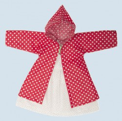 Nanchen doll clothing set - coat and dress - organic cotton, eco