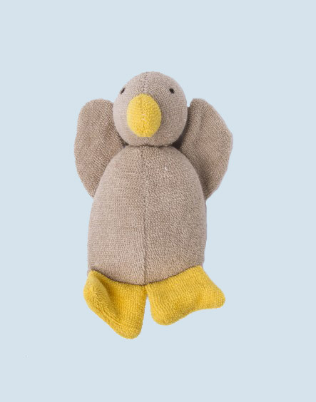 Nanchen eco cuddly animal - duck - beige, organic