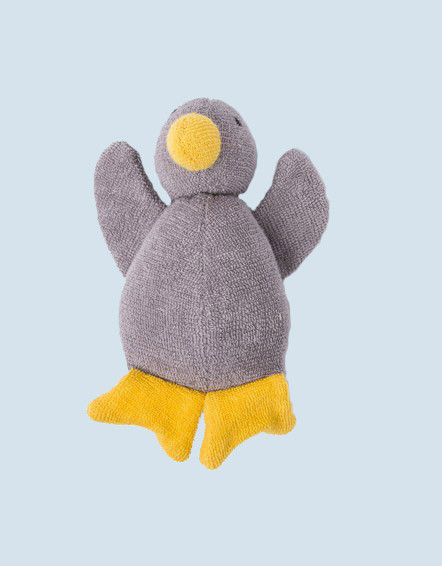 Nanchen eco cuddly animal - duck - grey, organic