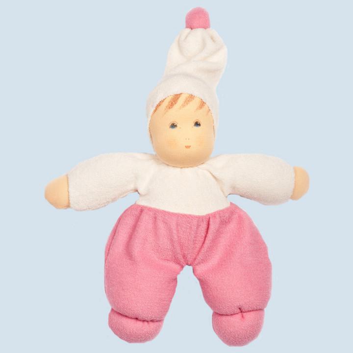 Nanchen Puppe - Möpschen - rosa, Bio Baumwolle, öko