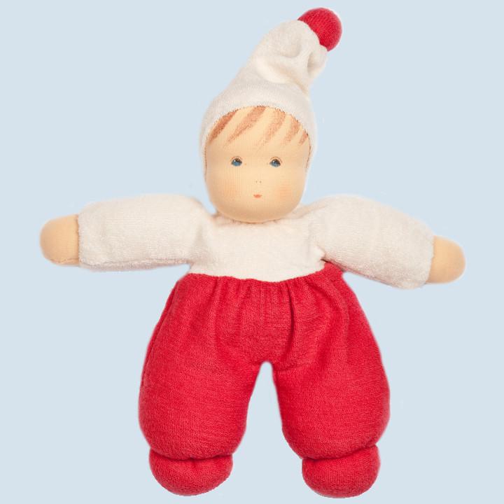 Nanchen Puppe - Möpschen - rot, Bio Baumwolle, öko