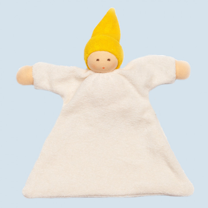 Nanchen organic soft toys - comforter Nuckel - yellow, eco