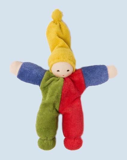 Nanchen Natur - Puppe Nucki - bunt, Bio Baumwolle, öko