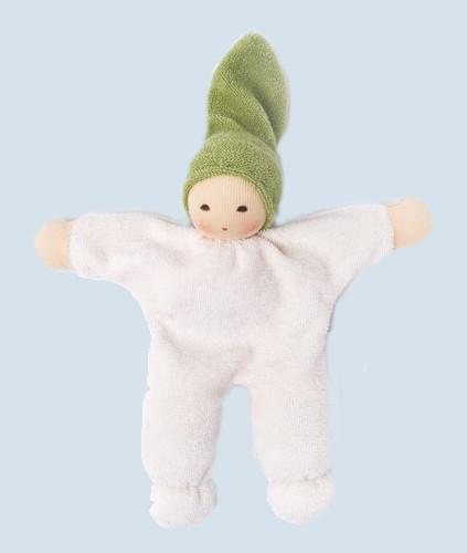Nanchen - organic soft doll - Nucki - green, organic