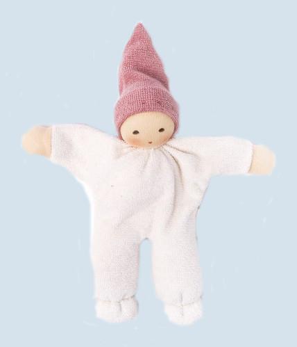 Nanchen - Puppe Nucki - rosa, Bio Baumwolle