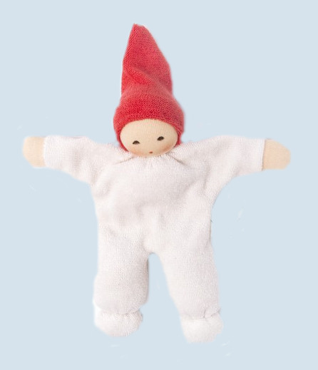 Nanchen - organic soft doll - Nucki - red, orange, organic